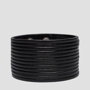 Laser-cut leather bracelet - Replay AW7159_000_A3007_098_1