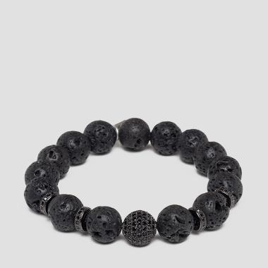 Elasticated bracelet with pearls - Replay AW7163_000_A0262_298_1