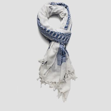Jacquard woven cotton scarf - Replay AW9188_000_A0190L_1133_1