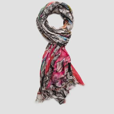 Multicolour printed modal scarf - Replay AW9193_000_A0199_1125_1