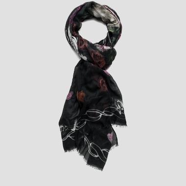Fringed-edge modal scarf - Replay AW9194_000_A0199_1126_1
