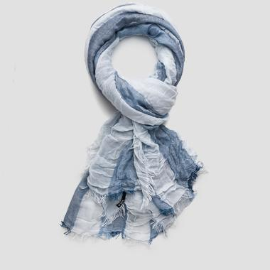 Striped viscose blend scarf - Replay AW9197_000_A0186_1135_1