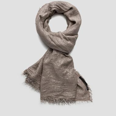 Viscose blend scarf with lamé accents - Replay AW9198_000_A0069_030_1