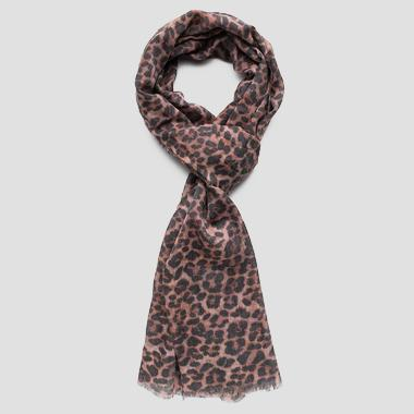 Scarf with animalier print - Replay AW9241_000_A0187A_1265_1