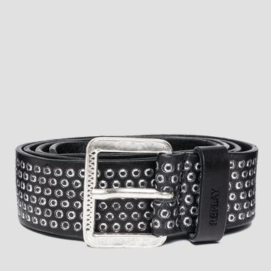 Unisex douglas leather belt - Replay AX2215_000_A3007_098_1