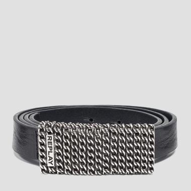 Belt with maxi buckle - Replay AX2243_000_A3007_098_1