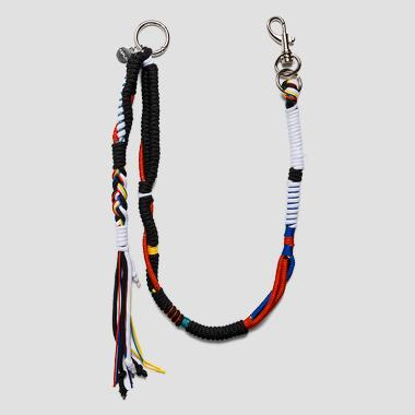 Keyring in interlaced cord - Replay AX7106_000_A0054_1354_1