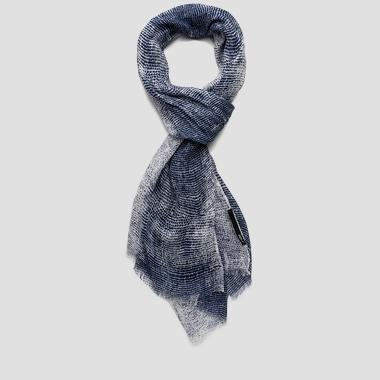 Unisex linen and viscose scarf - Replay AX9127_000_A0277_1123_1