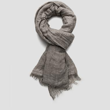 Unisex solid viscose and linen scarf - Replay AX9128_000_A0004B_025_1