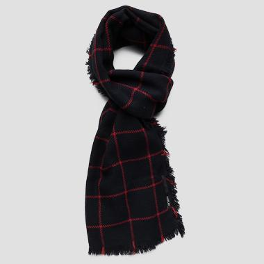 Scarf with checked print - Replay AX9217_000_A0400_1285_1