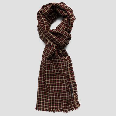 Checked wool scarf - Replay AX9219_000_A0400_1287_1