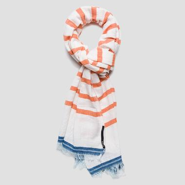 Striped jacquard cotton scarf - Replay AX9225_000_A0067A_1345_1