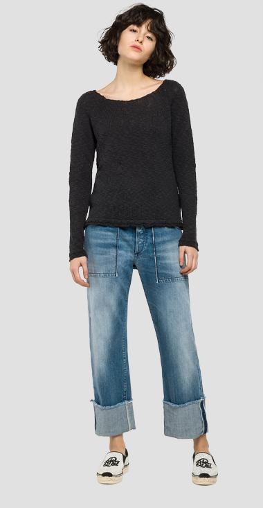 Long boat-neck jumper - Replay DK2020_000_G22372_228_1