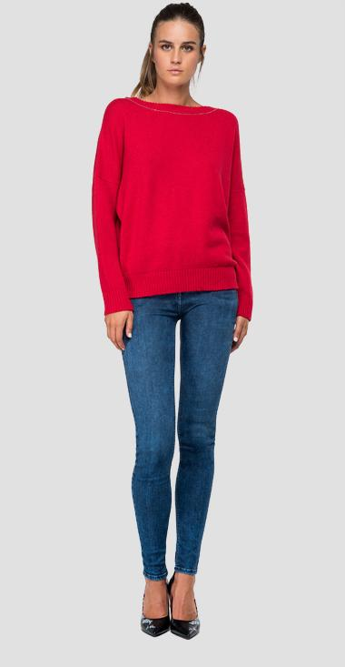 Wool blend crewneck sweater - Replay DK6033_000_G22718_457_1