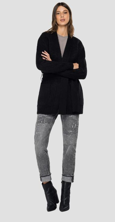 Long cardigan with pockets - Replay DK7063_000_G22652_098_1