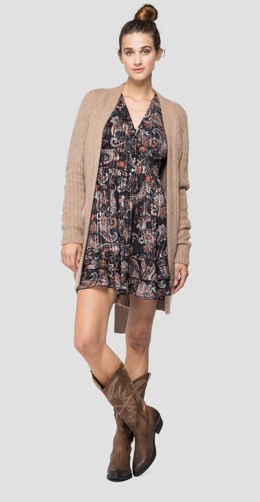 Long cardigan with pockets - Replay DK7063_000_G22652_427_1