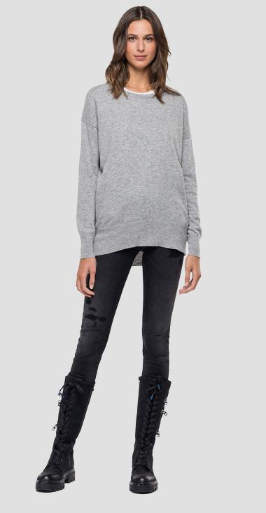 Crewneck Recycle Cashmere sweater - Replay DK7085_000_G23014_M04_1