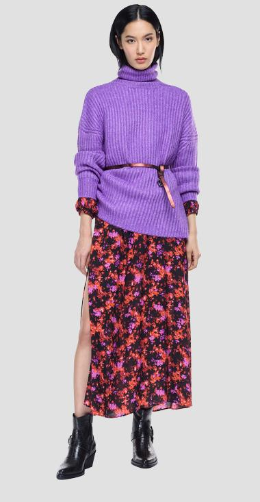 Turtleneck sweater with slits - Replay DK7207_000_G22650_172_1