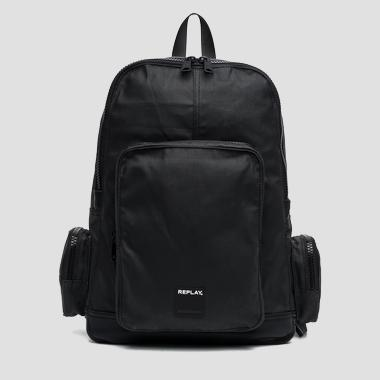 Waxed denim backpack with pockets - Replay FM3275_000_A0206A_492_1