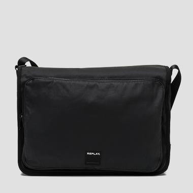Waxed denim messenger bag with pockets - Replay FM3276_000_A0206A_492_1