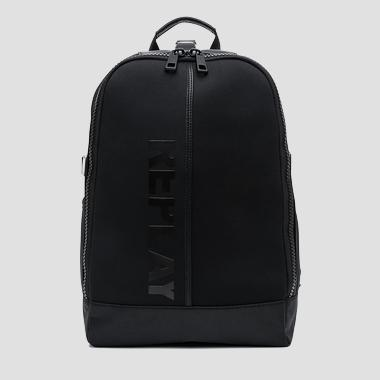 Neoprene backpack with faux leather details - Replay FM3280_000_A0315_098_1