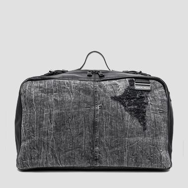 Denim and leather duffel bag - Replay FM3294_000_A3155A_098_1