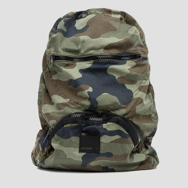 Camouflage backpack with field jacket - Replay FM3297_000_A0047_1151_1