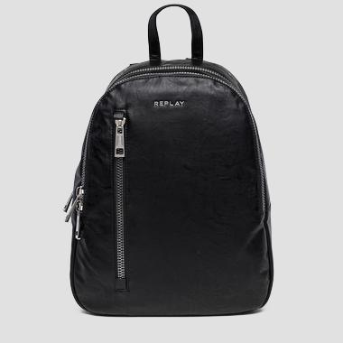 Eco-leather backpack with washed effect - Replay FM3370_000_A0376_098_1
