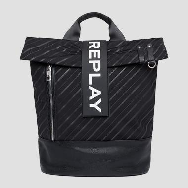 Backpack in logoed technical fabric - Replay FM3417_000_A0172A_098_1