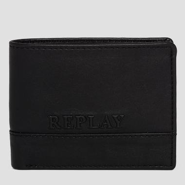 Leather wallet with logo - Replay FM5073_001_A3146_098_1