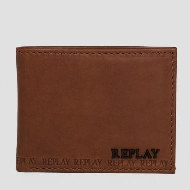 Leather wallet with logo - Replay FM5103_000_A3081A_048_1