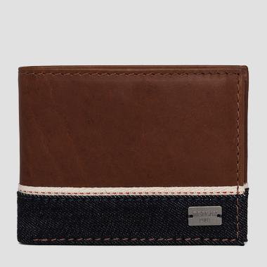 Three-section wallet with denim band - Replay FM5104_000_A3155_048_1