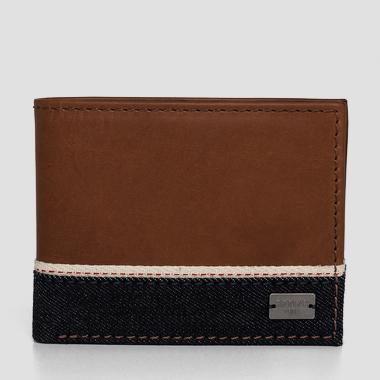 Leather wallet with denim band - Replay FM5105_000_A3155_048_1