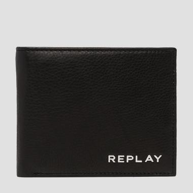 Wallet in hammered leather - Replay FM5161_000_A3146_098_1