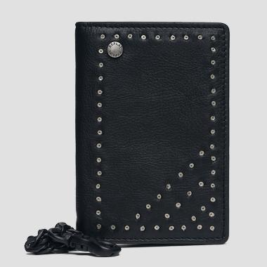 Leather wallet with chain - Replay FM5170_000_A3003D_098_1