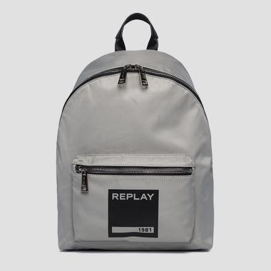 Unisex nylon backpack with pocket - Replay FU3062_000_A0021B_020_1