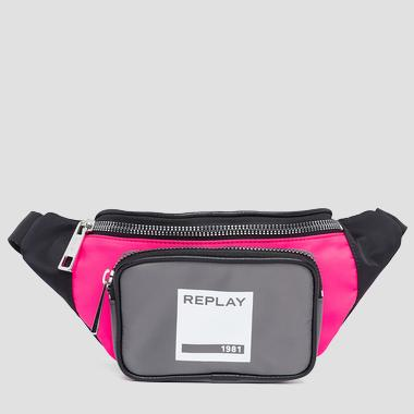 Waist bag with REPLAY 1981 print - Replay FU3064_001_A0021B_1269_1