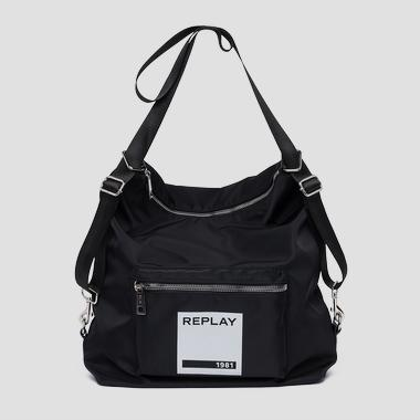 Bag with REPLAY 1981 print - Replay FU3065_000_A0021B_098_1