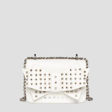Crossbody bag with bow and studs - Replay FW3001_013_A0132D_001_1