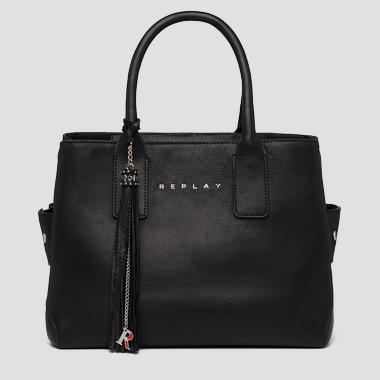 Tote bag in plain cow leather - Replay FW3056_000_A3127C_098_1