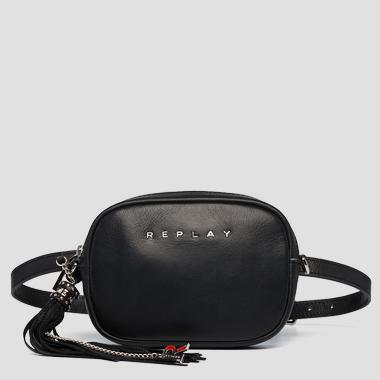 Waist bag in plain cow leather - Replay FW3057_000_A3127C_098_1