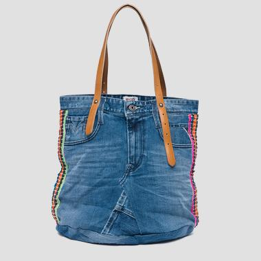 Sac en jean reworked exclusif - Replay FW3637_007_A0181A_901_1