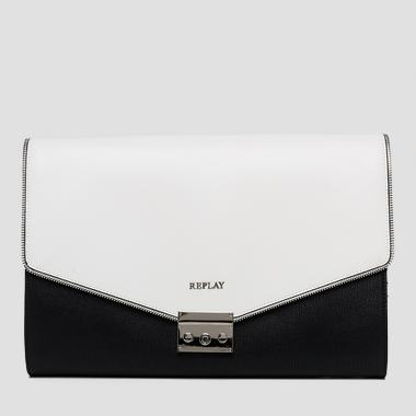 Saffiano faux leather shoulder bag - Replay FW3647_000_A0283_1058_1