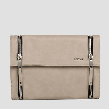 Faux leather clutch with zip detailing - Replay FW3664_000_A0015_028_1