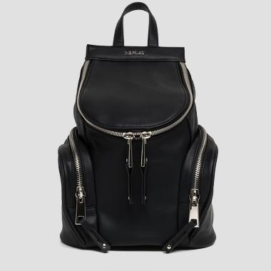 Faux leather backpack with outside pockets - Replay FW3665_000_A0015_098_1