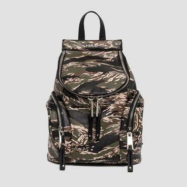 Camouflage faux leather backpack - Replay FW3665_001_A0015E_1143_1