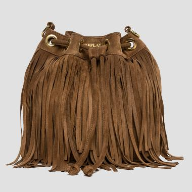Fringed suede bag - Replay FW3672_000_A3054_140_1