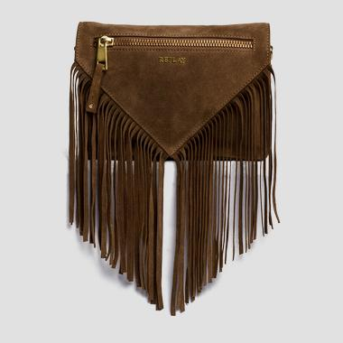 Suede leather clutch - Replay FW3673_000_A3054_140_1