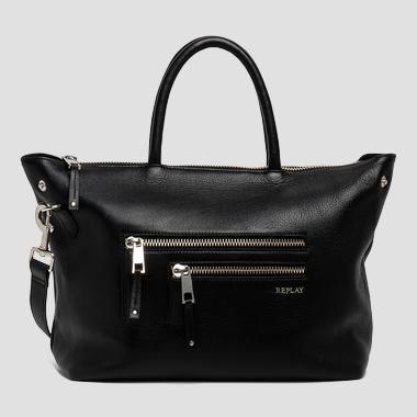 Leather bag with external pockets - Replay FW3674_000_A3127_098_1