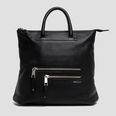 Leather handbag with shoulder straps - Replay FW3675_000_A3127_098_1